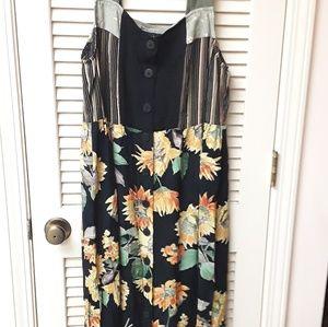 Carole Little Vintage Boho Sunflower dress 6 L